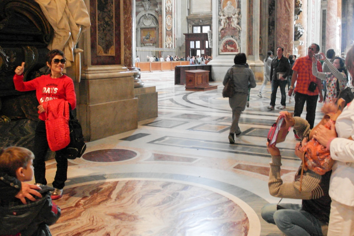 In the Sistine Chapel no photos are permitted. The same is true in many other churches throughout Italy. Read why its important to comply.