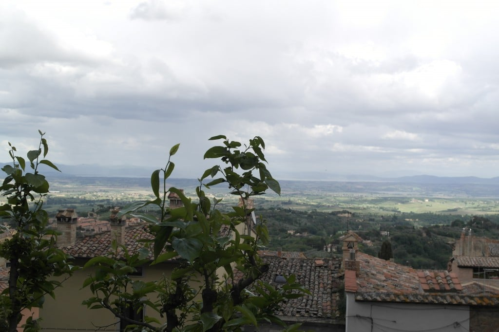 A View of the Tuscan Countryside from atop Montepulciano