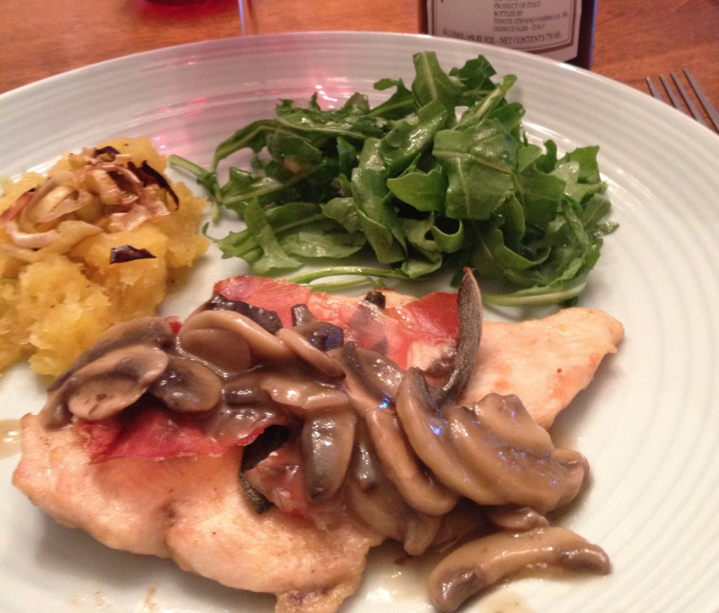 Wine Pairing with Chicken Saltimbocca
