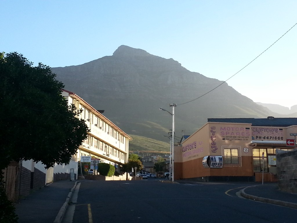 Table Mountain Peaking over the Buildings