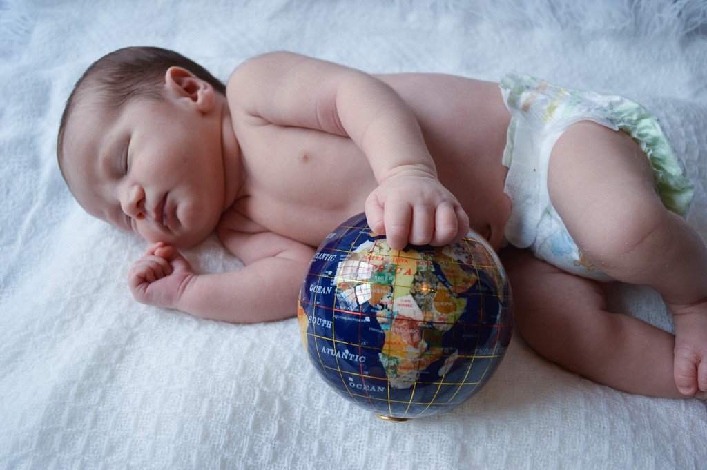 Baby Gourmand Dreaming of Travel