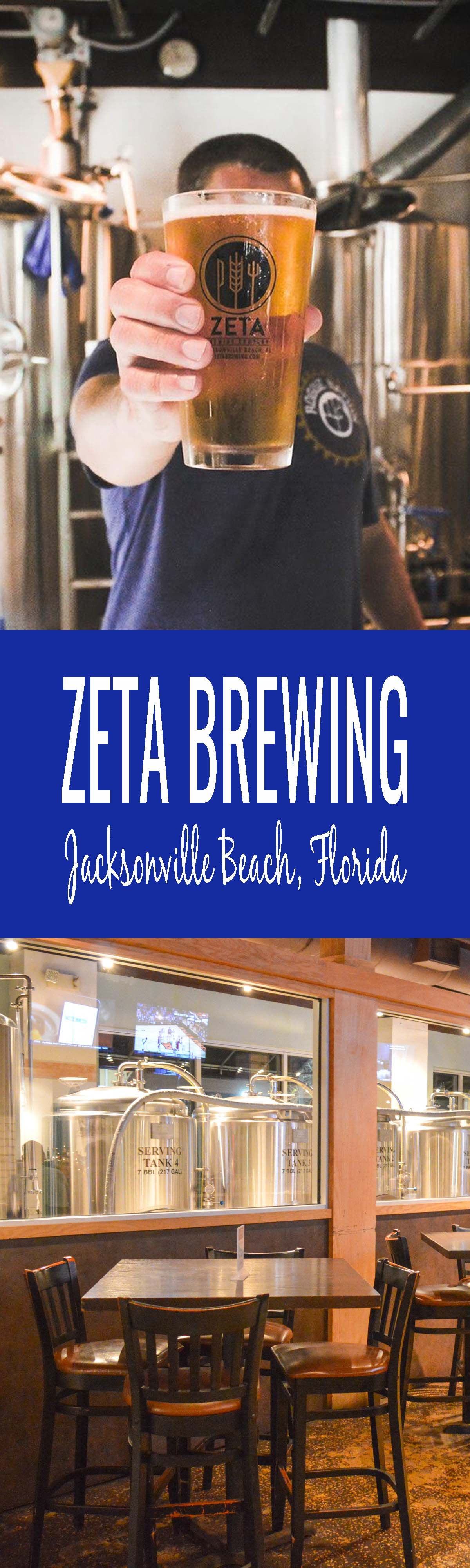 Taproom Talk: Zeta Brewing in Jacksonville Beach, Florida. Explore Jacksonville, Florida's food and craft beer travel scene through the eyes of Zeta Brewing Head Brewer, Chris Prevatt. Jacksonville is one tasty (and sudsy) beach town!