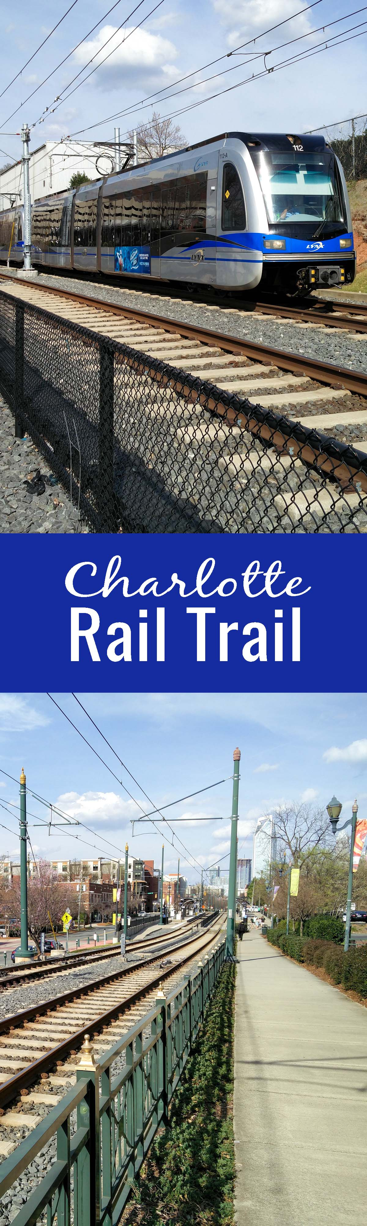 The Charlotte Rail Trail is a great way to explore Charlotte from Uptown through South End. There are plenty of restaurants, shops, pocket parks, and breweries along the way!