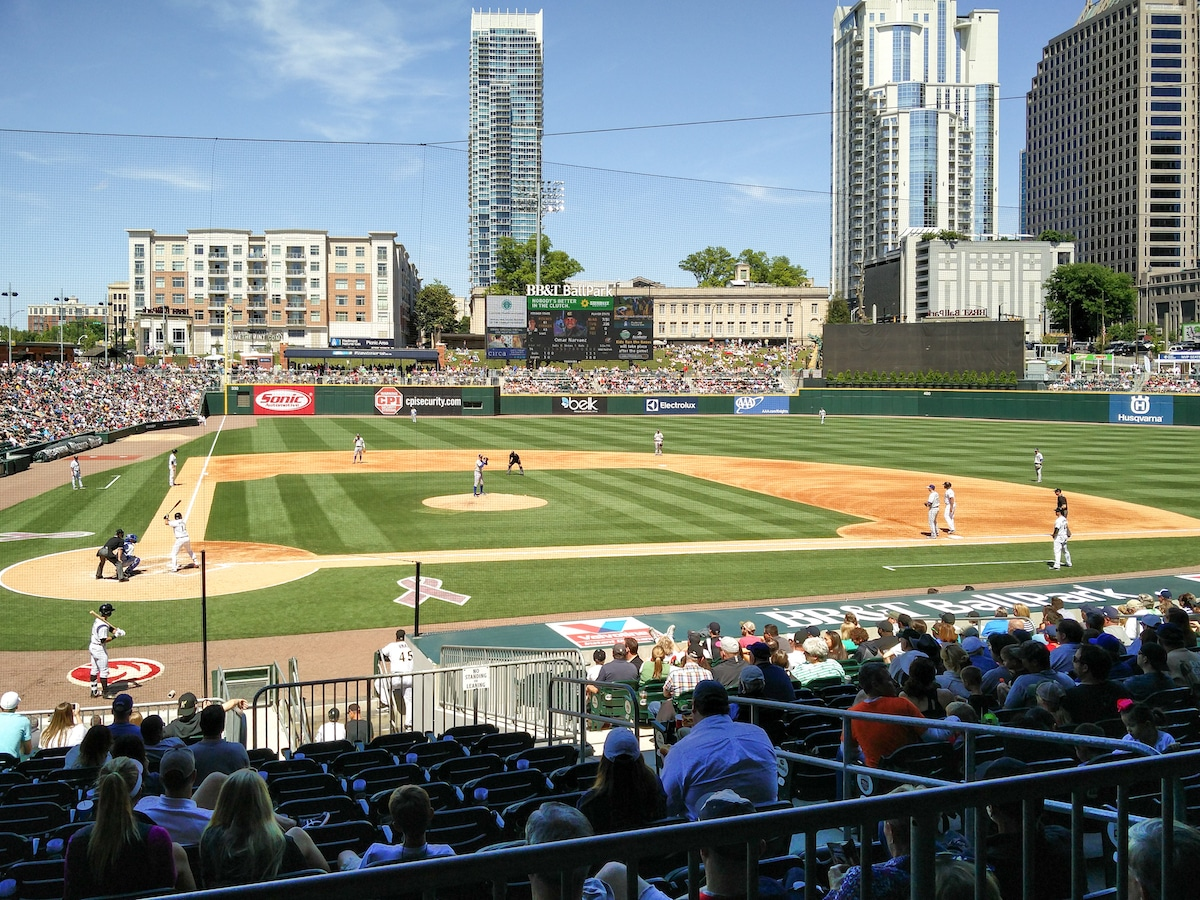 An Afternoon at the Charlotte Knights Stadium. The stadium had a surprisingly good selection of craft beer to choose from, plus going to the game is a fun day out for kids.