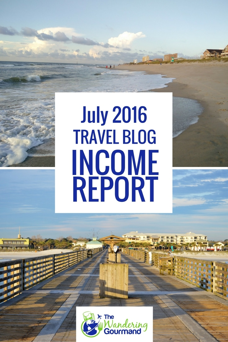 Each month I publish a travel blog income report to inspire others to plan their own exit strategy from the cubicle hamster race. Here's July's edition.