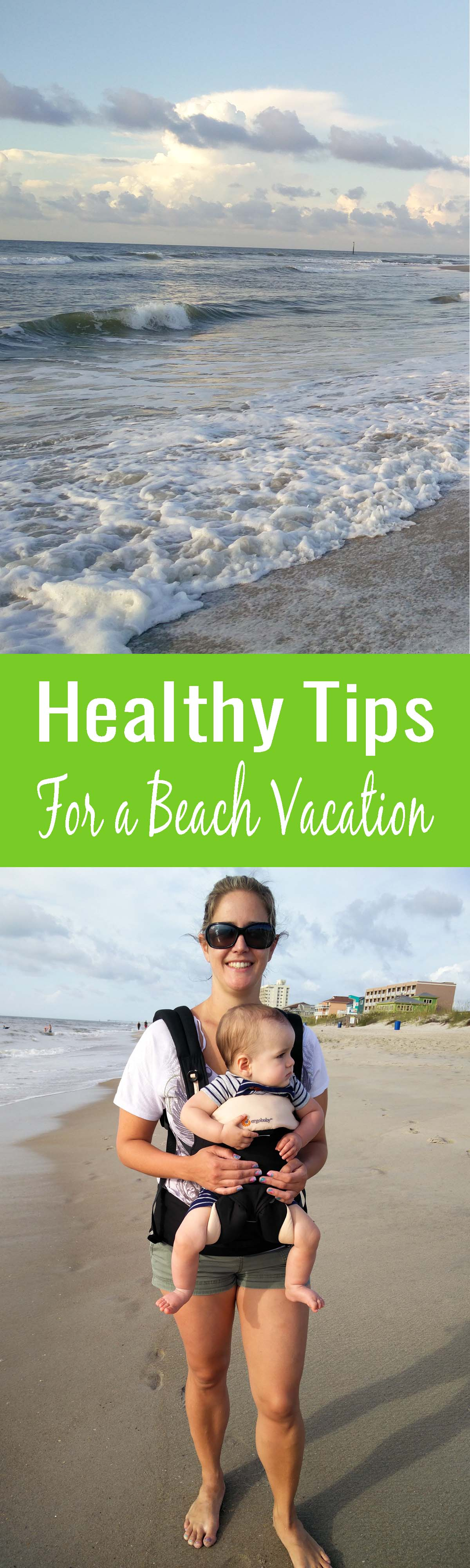 Easy to implement tips for staying healthy on a beach vacation for those of us who dread the word diet and exercise on their vacation. Yes, you can enjoy your beach vacation without gaining weight!