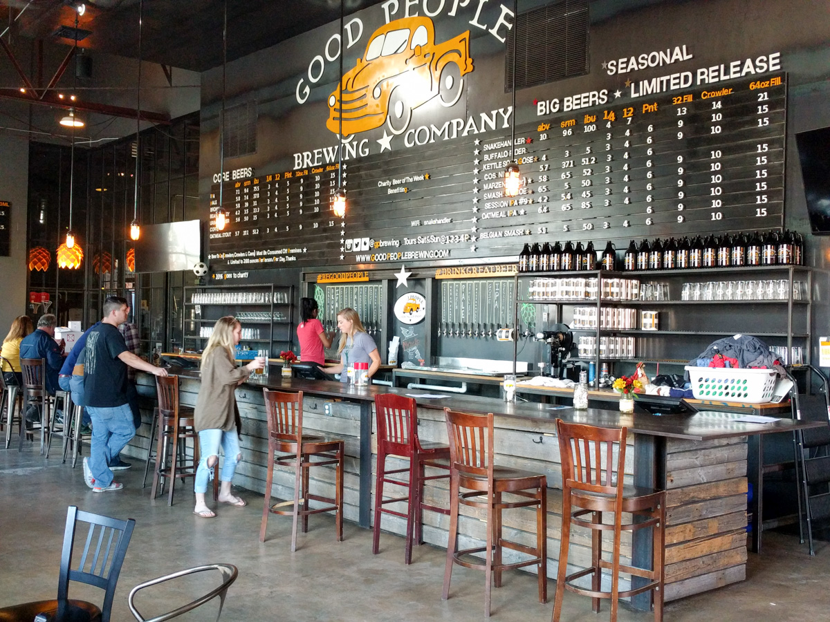 Brewery Snapshot Brewing in Birmingham, Alabama – Good People Brewing in Birmingham are not only brewing rebels, but they also brew some amazing beers like the Snake Handler Double IPA. Find out why Good People Brewing is a must visit brewery!