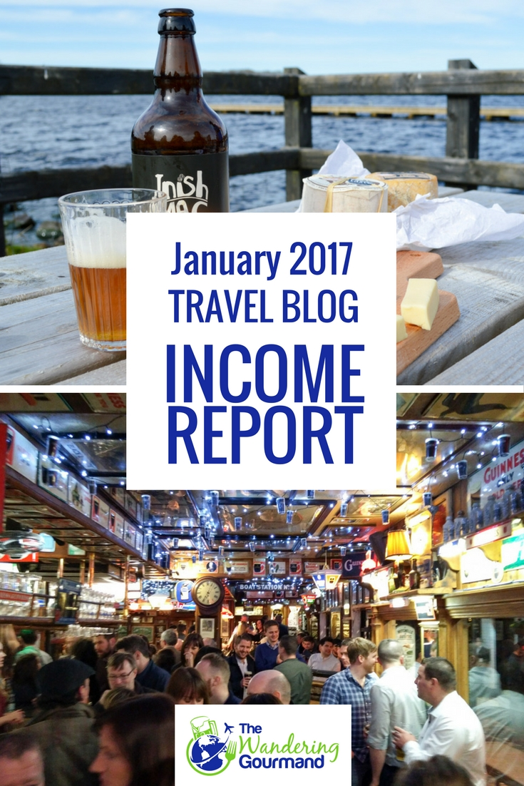 Each month I publish a travel blog income report to inspire others to exit he cubicle hamster race. Here's January's edition.