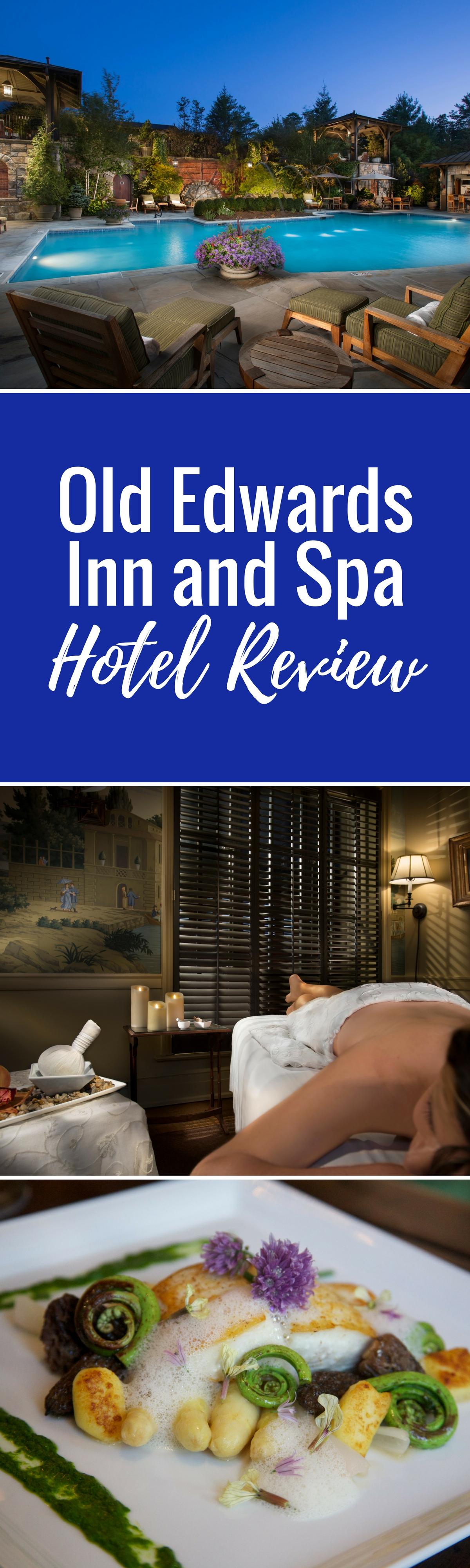 Old Edwards Inn and Spa in Highlands, North Carolina. Old Edwards Inn and Spa is the epitome of luxury and refinement. From an award-winning spa to an award-winning restaurant and many other accolades, Old Edwards is a gourmand worthy hotel.
