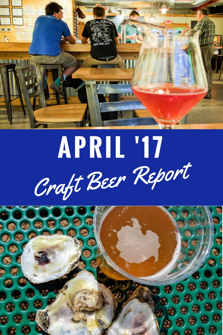 As a beer writer, each month I try a lot of craft beer. Here are my favorites from April summarized in my April Craft Beer Report.