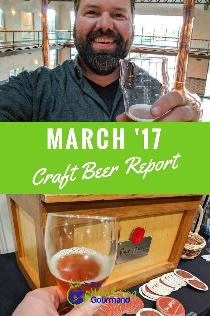 As a beer writer, each month I try a lot of craft beer. Here are my favorites from March summarized in my March Craft Beer Report.