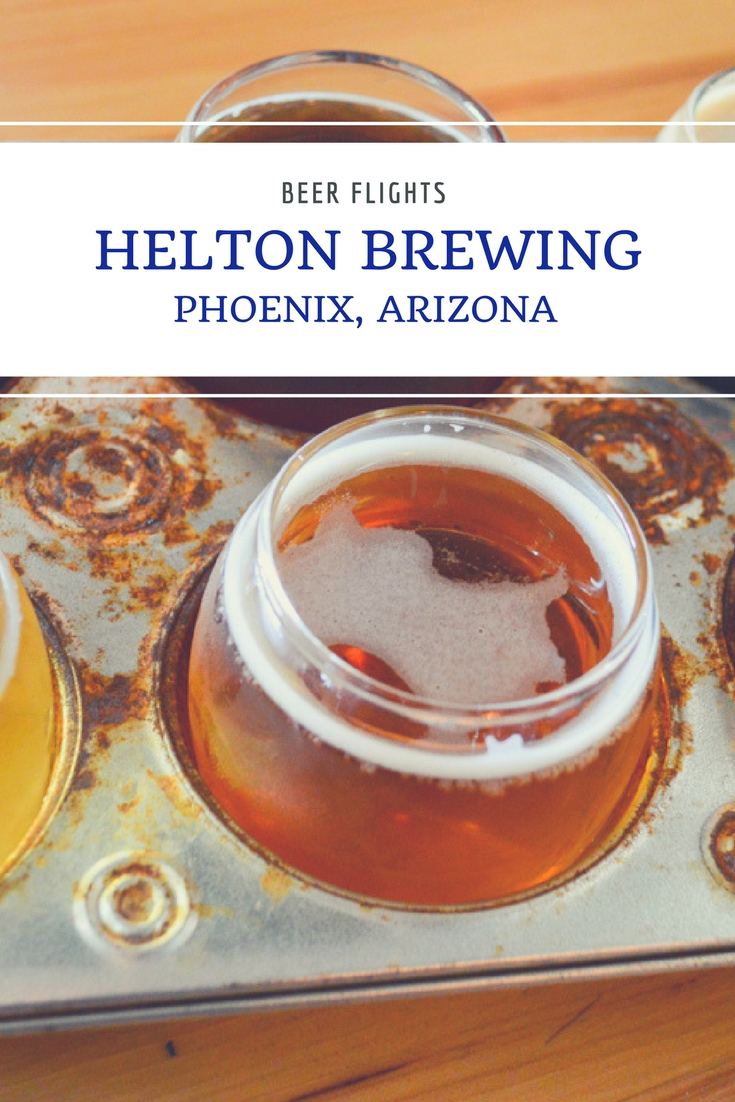 Helton Brewing in Phoenix, Arizona is upping the Phoenix beer game with well-crafted beers brewed by an industry veteran. Belly up to the bar with me and lets enjoy a flight of Helton Brewing beers!